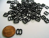 Tiny black regtangle buckle for Barbie, Blythe and dolls 50 pcs.