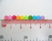 250 pcs Super Tiny 2 hole transluscent button - 4 mm. assorted colors for making Barbie, Blythe and dolls clothes