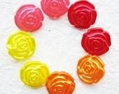Rose shank buttons 25 pcs 13 mm.