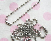 30 pcs Key Chains 4 inch nickel ball chains blank findings