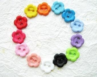 2 hole flower buttons 11 mm.- 100 pcs