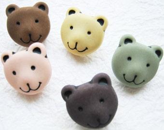 Bear shank buttons - 30 pcs