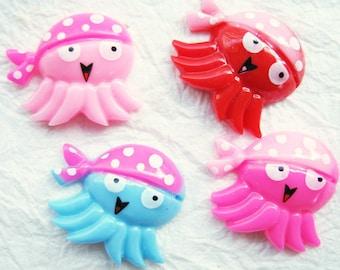 Fighto Little Squid Cabochons 20 pcs size 17 x 20 mm.
