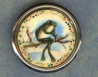 Frog pin   He be a jammin Frog pin