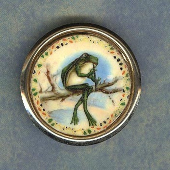He be a jammin Frog in a tree playing a flute pin