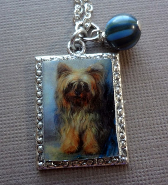 Yorkshire Terrier Necklace Imaginary fetch necklace good for your mental health