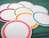 new size - Scalloped Journaling Circles - Brights - Set of 9