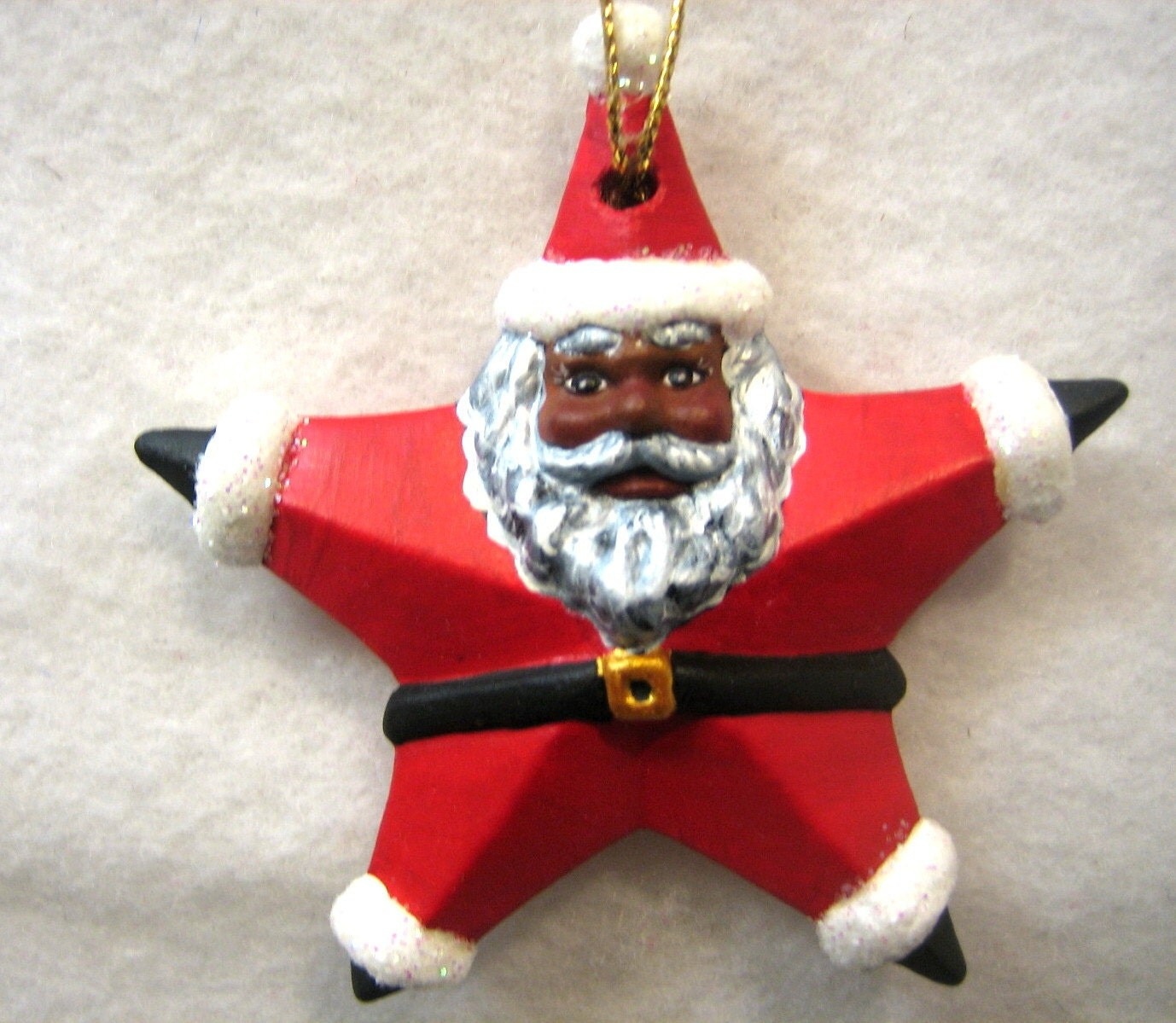 African American Santa Claus Ornament By INSPIRATIONSBYROBIN