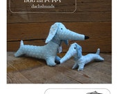 dachshund dog and puppy - softie e-pattern