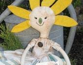 Yellow Petal Mama Robin Doll