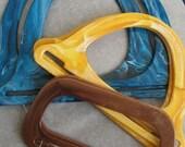 Three sets of plastic retro handles