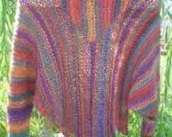 PDF Knitting Pattern for KNIT Shawler with Optional Hood Knitting Pattern Only