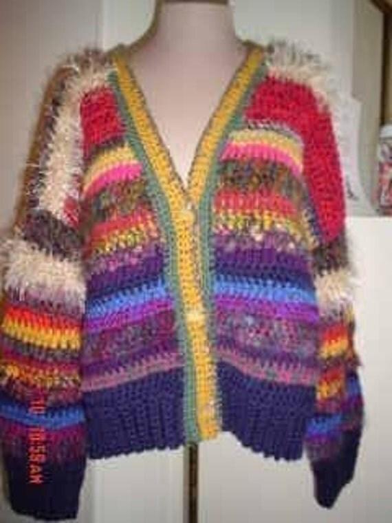 PDF Log Cabin Jacket Crochet Pattern Immediate Download