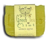 GREEN TEA AND MINT Handmade, Olive Oil, Cold Process Soap