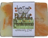 Paw Paws Persimmon Handmade olive oil soap Lote Tree vegan cold process