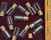 Lots of 12 bottles with corks 7 ml size  Storage Mini Small MORE AVAILABLE