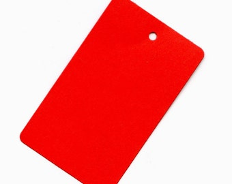 RED Blank Tags(50) DIECUT with Punched Holes 1 3/4 x 2 7/8 inch size Christmas Gift