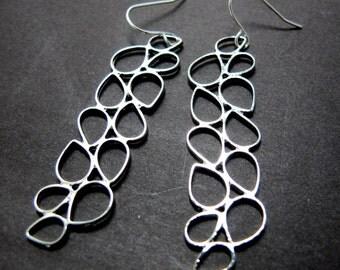 Silver Vines Earrings // Silver Charm // Silver Dangle Earrings // Modern & Chic under 25