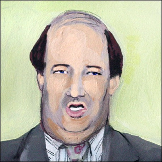 Ode to Kevin from The Office US version elloh fine art 5 x 7 print portrait