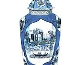 BLUE WORCESTER PORCELAIN Jar Print