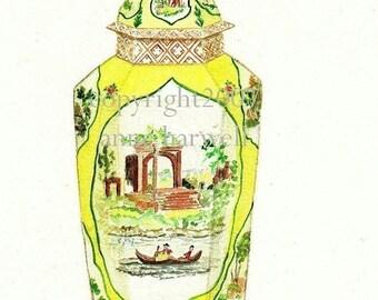 WORCESTER PORCELAIN JAR Print