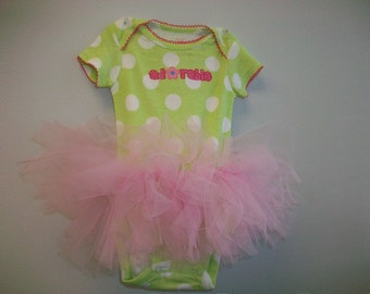 Make Your Own Adorable Onesie Tutu  Tutorial - Great for Halloween -Super Easy