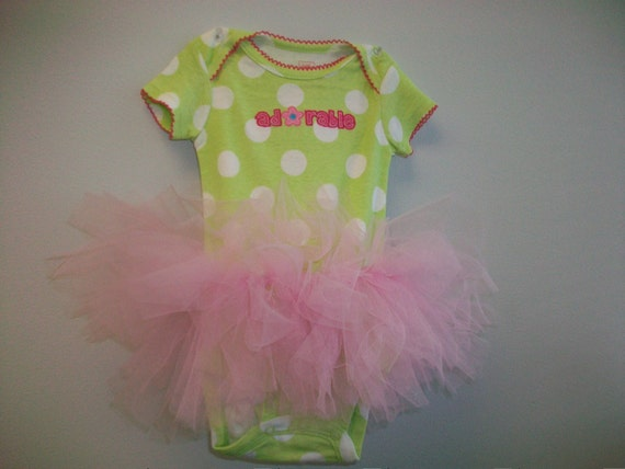 Make Your Own Adorable Onesie Tutu  Tutorial -  Almost No Sew Tutu - Great for Holidays - Super Easy