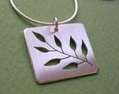 Seven Leaf Branch - sterling silver pendant