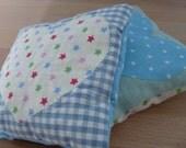 pair of lavender pillow sachets