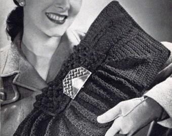 1940s Envelope Bag Purse Vintage Crochet Pattern PDF