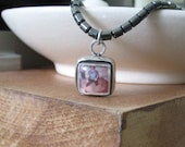 LIMBO necklace- sterling silver with hematite SALE