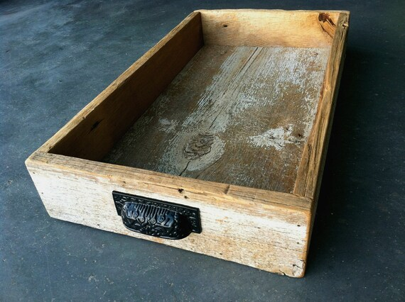 reclaimed wood tray / without handles, Set RESERVED for Leslie