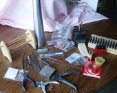 Silversmith Metalworking Supplies Lot Tools Mandrel Stamps Pliers Copper and More
