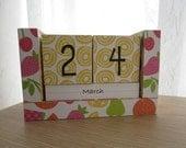 Handmade Perpetual Wooden Block Calendar - Fruity Fun