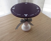Hand Painted Cupcake Stand - Mini Wooden Cake Stand -