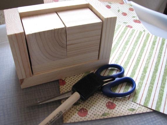 Calendar Blocks Diy : Blank perpetual calendar diy wooden block