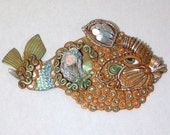 Sparkles The Fish and Mermaid wall plaque.