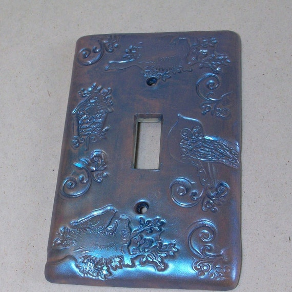 Clearance sale was 7.95: Birds of a feather  light switch cover