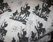 Sleeping with Picasso- Vintage Don Quixote twin sheets