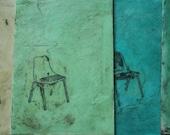 ACEO - original encaustic Burke chair