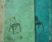 RESERVED for alexandrafuller ACEO - original encaustic Burke chair