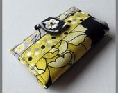 Roanna - A Fabric Business Card Cozy - Keeper - Wallet - Case - Organizer - Stand