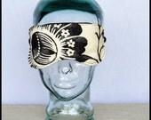 Sleep Mask - Black and White Flower  - Arianna a Sleepy Time Mask