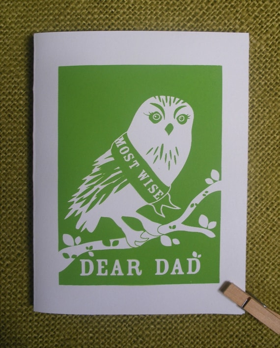 Fathers Day Card - Most Wise Owl