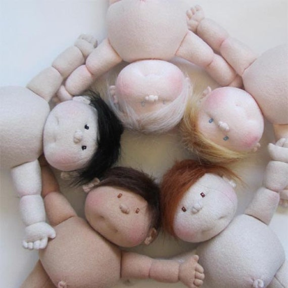 Create Your Own 14 Inch Soft Sculpture Baby Doll Boy Or Girl