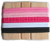 10 fat elastic stretch headbands - girly PINK assortment - (all without metal)
