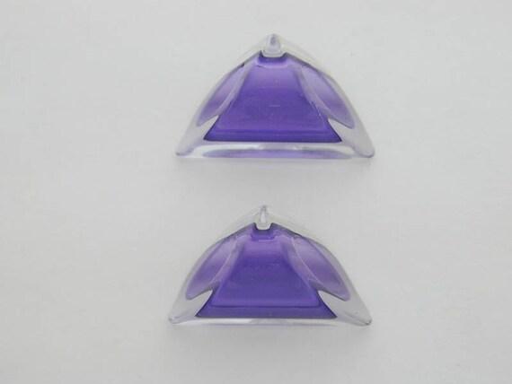 Purple Angle Cut Beads