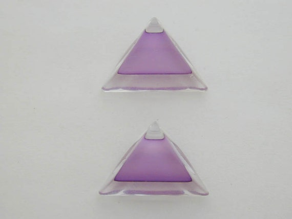 Lavender Angle Cut Beads