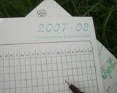 Letterpress Menstrual Calendar