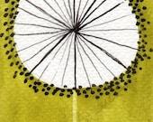 Watercolor Painting: Watercolor Flower Painting -- Mini Art Print -- Golden Yellow Dandelion  -- ACEO Print